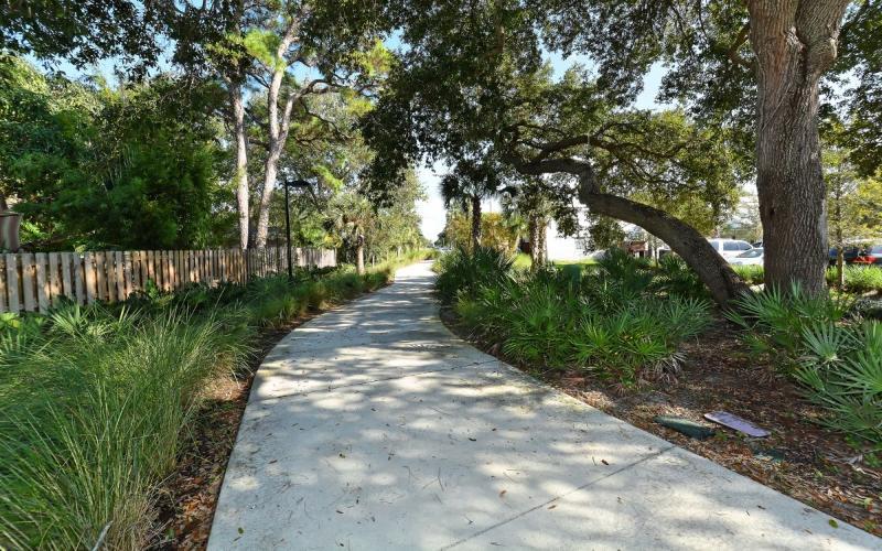 Bike path adjacent to property.