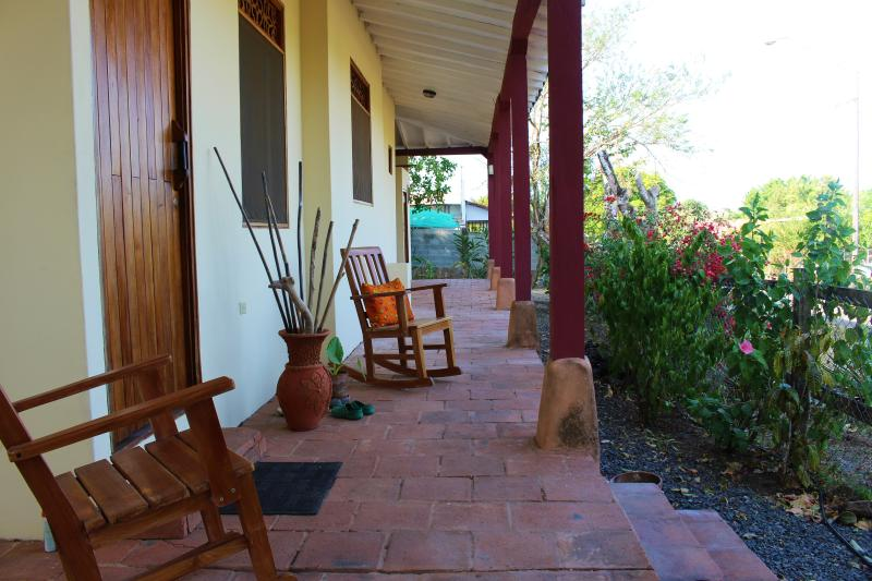 Beautiful front porch to relax and read a book