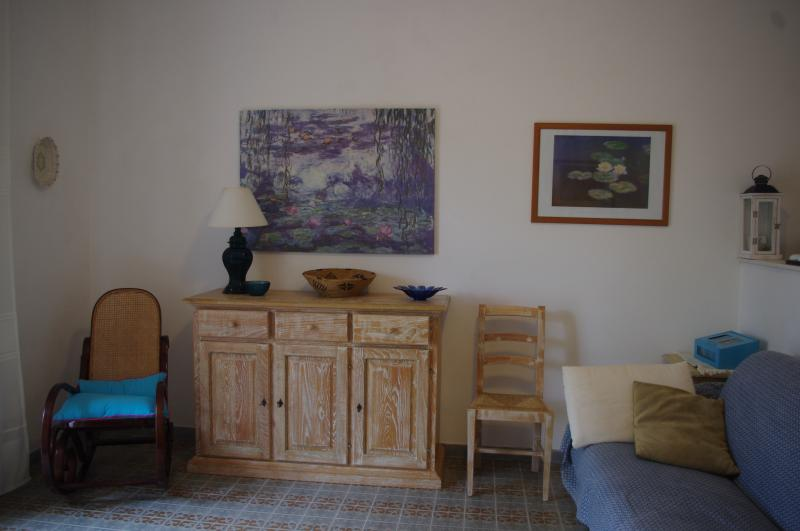 Un angolo del soggiorno
