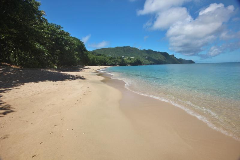 The beautiful white sandy beach of Princess Margaret. 20 min walk or 5 mins by car