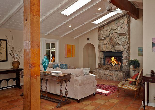 Living room and fireplace that give you that relaxing feel.