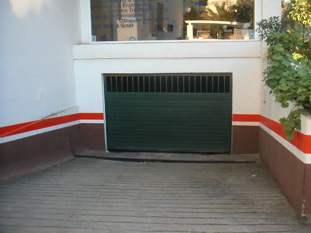 Entrance to underground parking via remote control