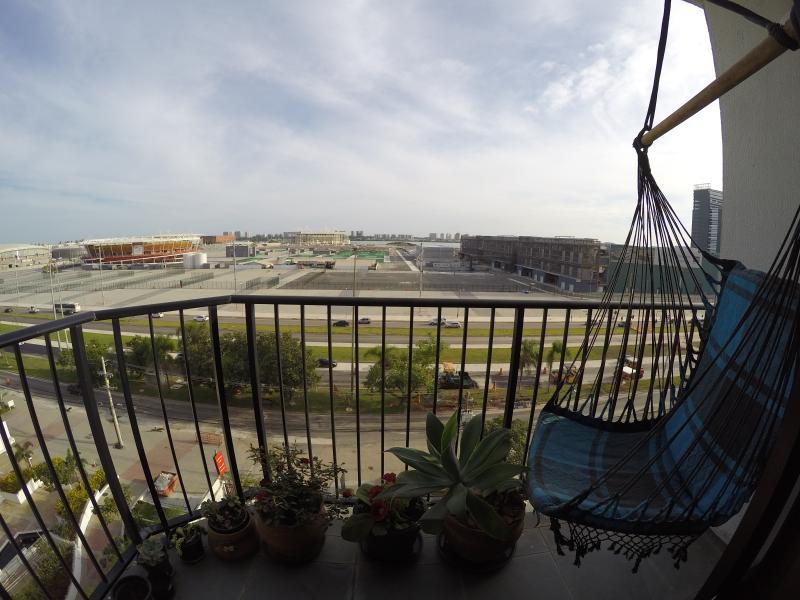 Vista da sala: de frente para o Parque Olímpico