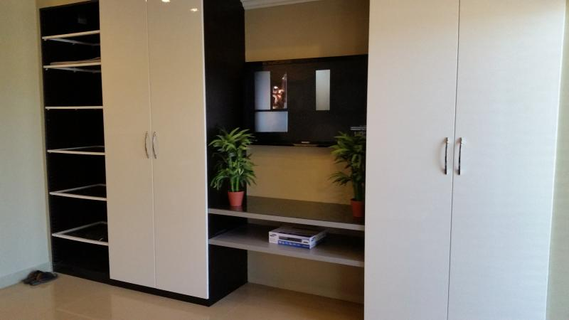 Living Room/Bedroom Units with loads of internal functionality for all your belongings.