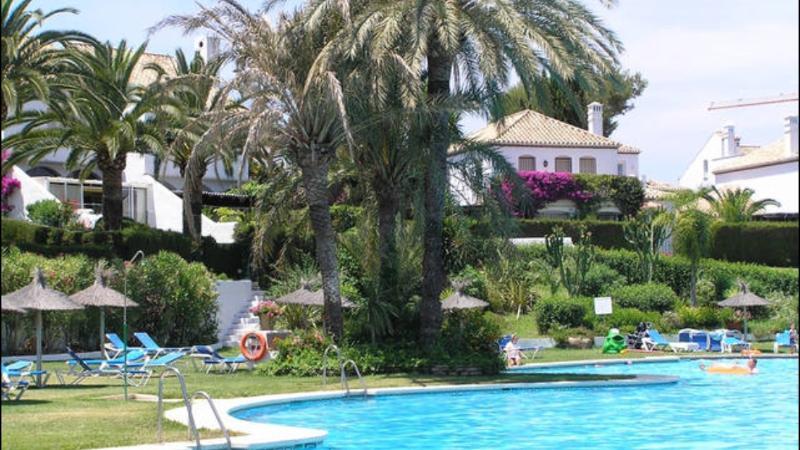 Benamara's huge swimming pool
