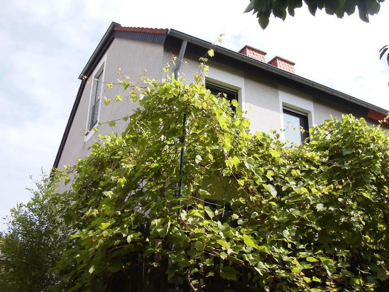 Das Haus, Blick auf die Zimmerfenster