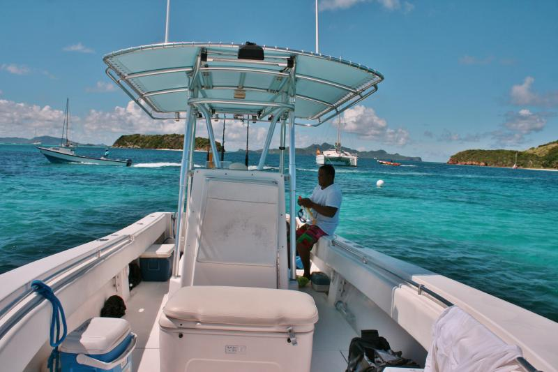 There are numerous boats to have a day trip,  go fishing or sightseeing to a nearby island