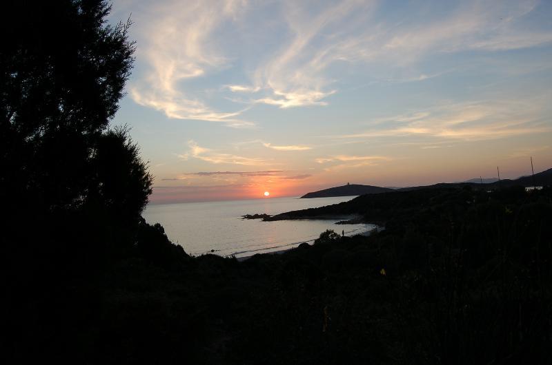 Il tramonto dal villaggio