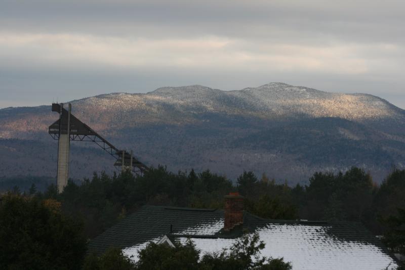 Towards Lake Placid and ski jumps