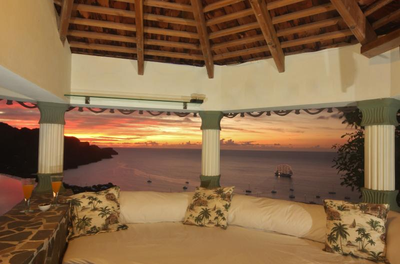 The lovely Gazebo has beautiful sunsets and incredible daytime views of Caribbean Sea