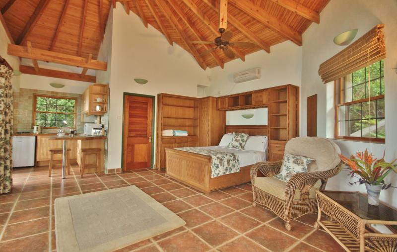 Palm Cottage has beautiful furniture and plenty of space to relax and wind down
