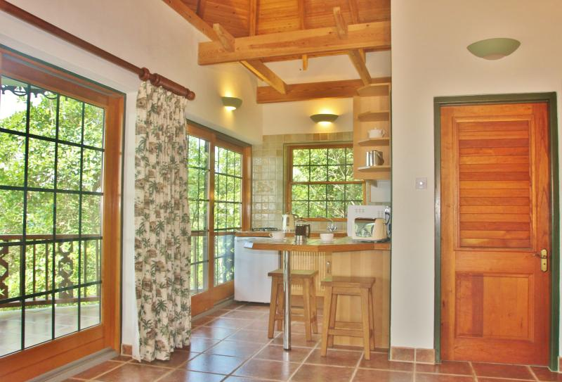 Palm Cottage has a well laid out kitchen and is very well equipped