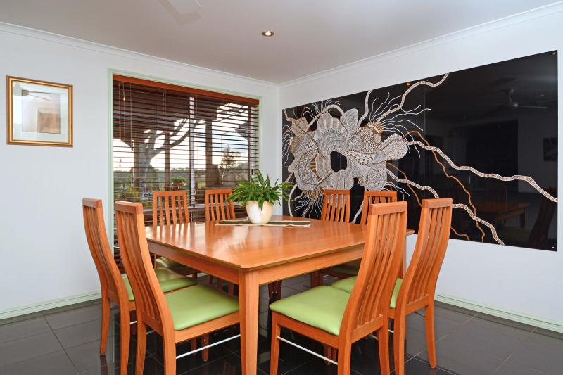 Dining Room with art work