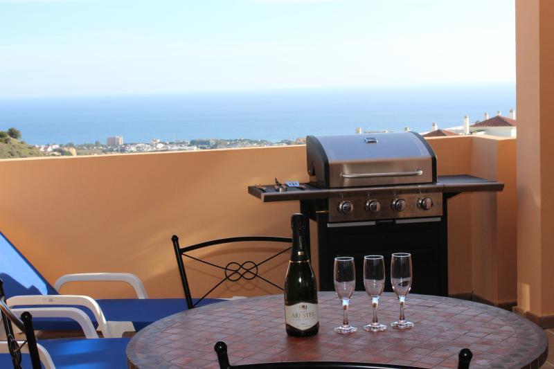 CASA BELLAVISTA-BBQ-wifi-parking-airco-jacuzzi-pool-garden-seaview, holiday rental in Sitio de Calahonda