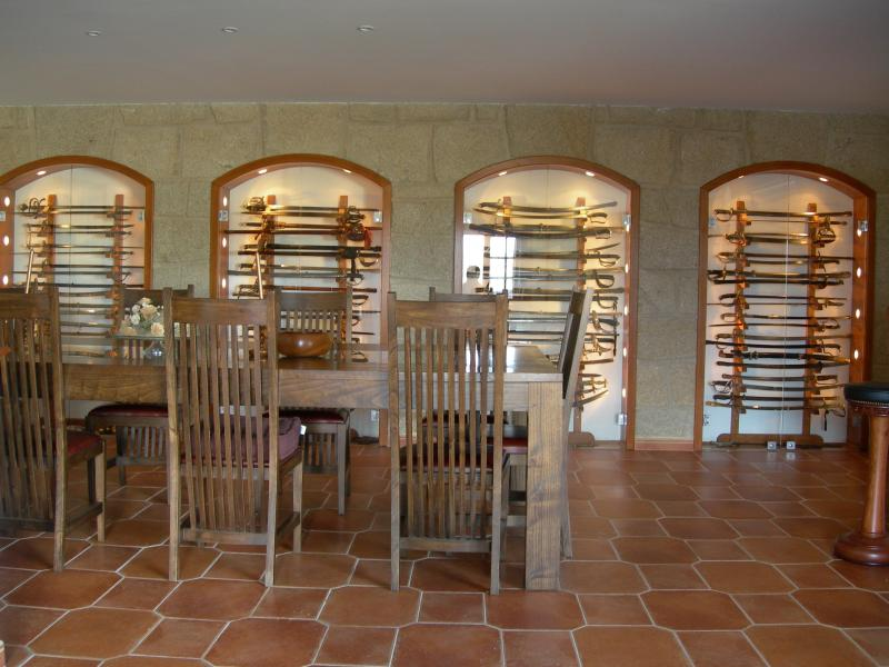 Dining rooms (swords now replaced with fabrics)
