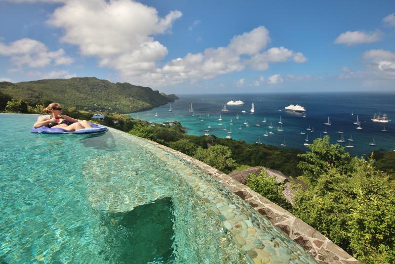Views overlooking the Infinity edge pool are amazing