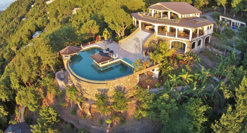 An aerial view of Tropical Hideaway