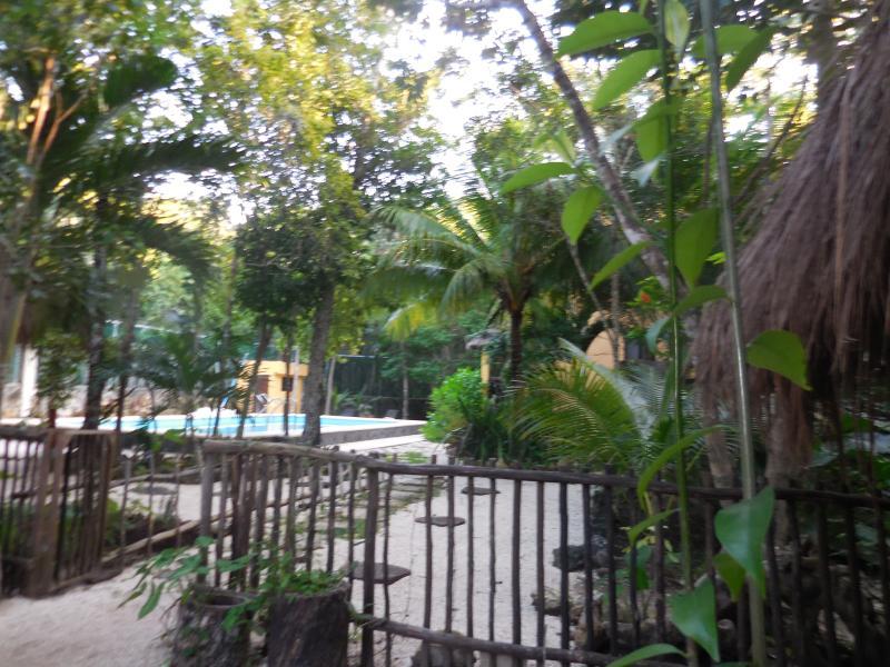 Entrance to villa's area