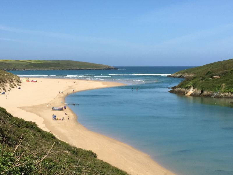 River Gannel leading to Crantock beach
