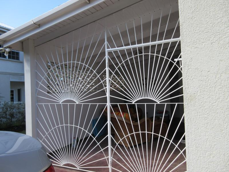 Security gates for the garden room