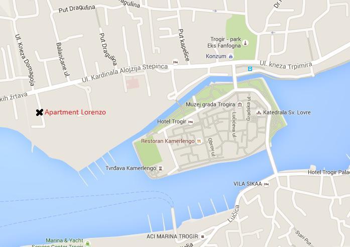 Exact location of the 'Aparment Lorenzo'.