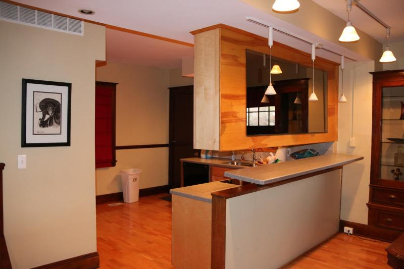 Kitchen Bar &  Dining Room view of two bedroom suite