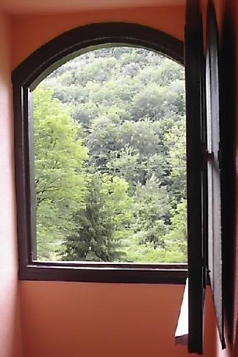 vue depuis la chambre orange à l'étage