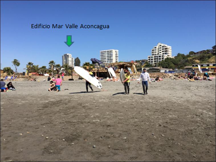 Playa La Boca y Edificio Mar Valle Aconcagua