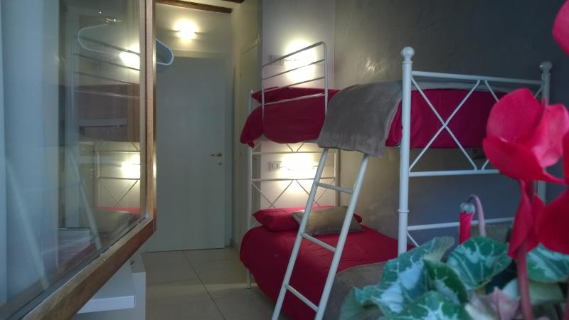 View of the bedroom from the balcony's window