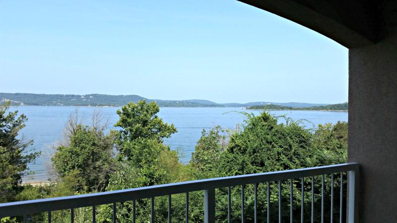 Enjoy a beautiful view of Table Rock from the balcony