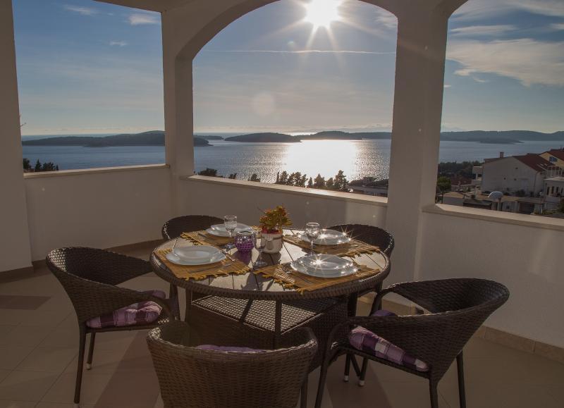 The sun on the terrace
