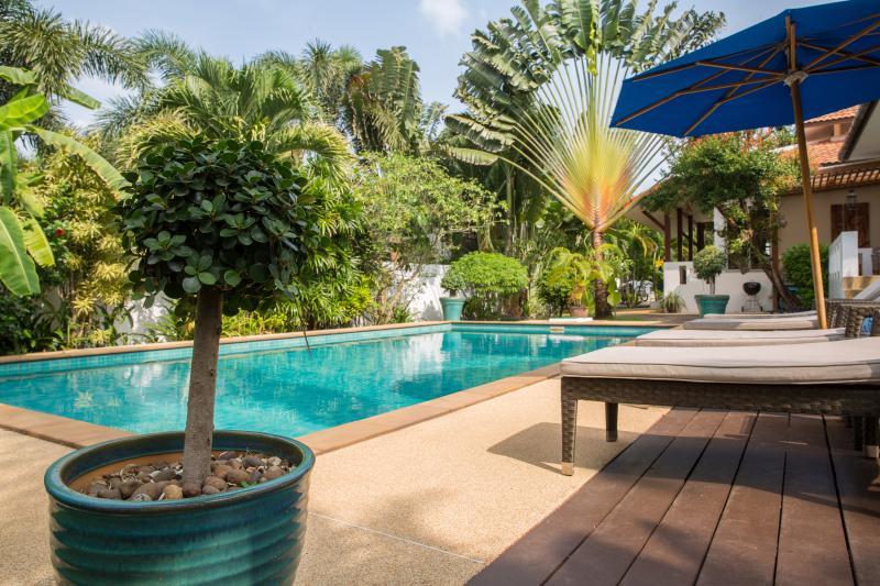 Balinese stone pool.
