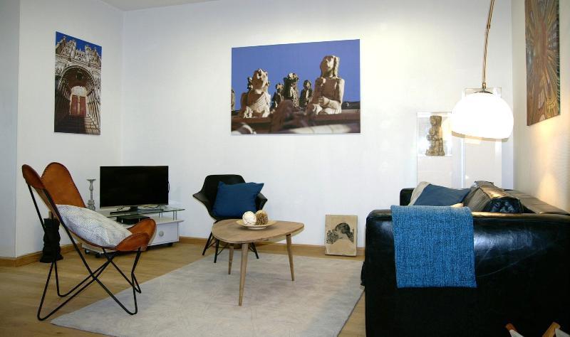 Salon avec Canapé lit 2 places  de 140 x 190 cm