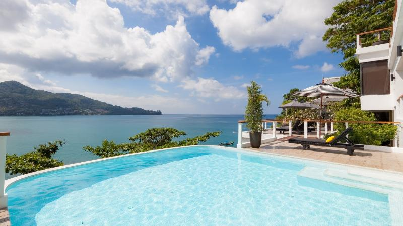 Private ocean front Swimming pool with Kamala bay view