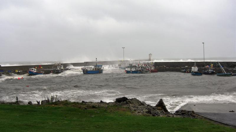 The harbour on a very stormy day