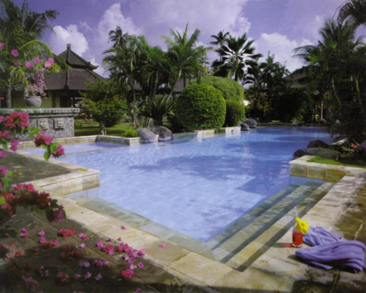 The Swimming Pool sets in the centre  of 12 Villas