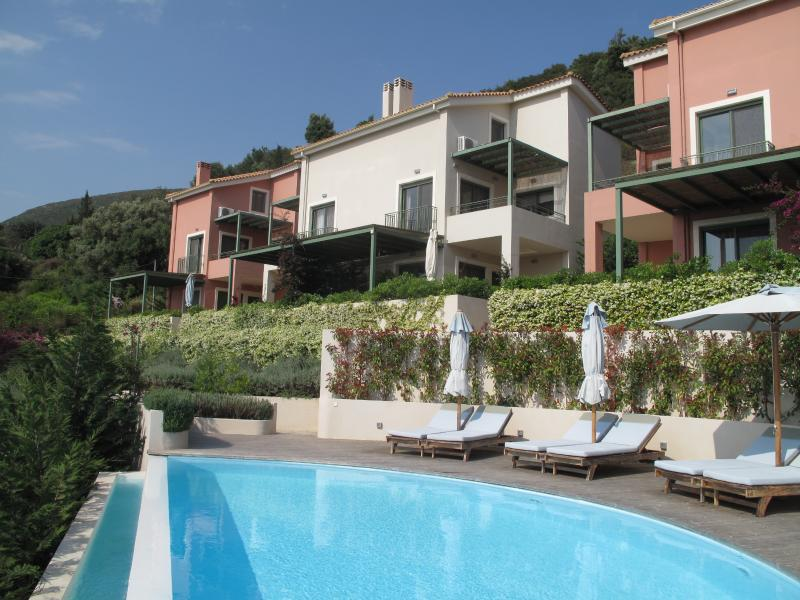 Beautiful modern 2 bed apartments overlooking Lefkada and the Ionian Sea