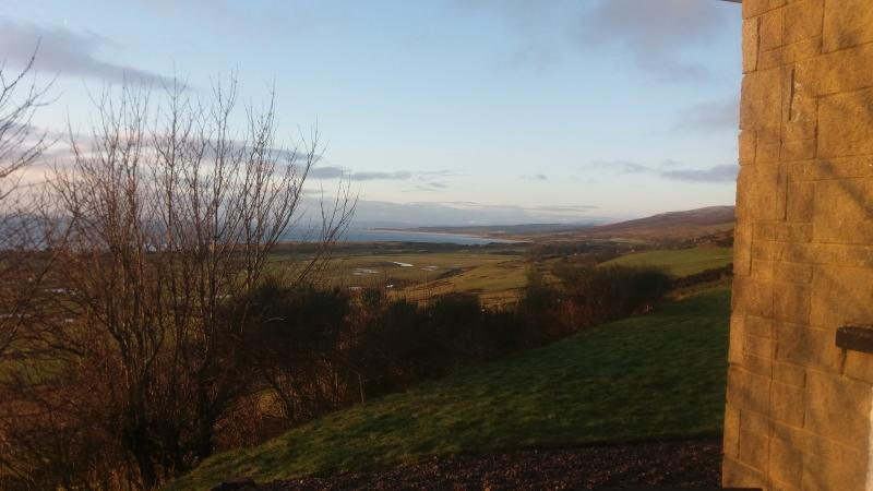 View south from Fairburn over Moray Firth towards Dornoch