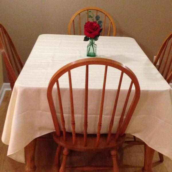 Larger dining table - seats six