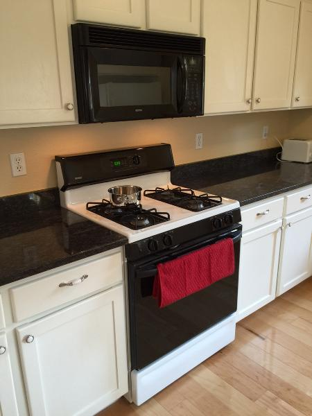 Kitchen - stove and microwave