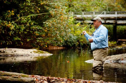 Some of the best fly fishing on the Davidson River only minutes away in Pisgah National Forest