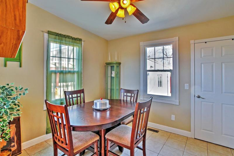 Enjoy family meals around the 4-person dining room table.