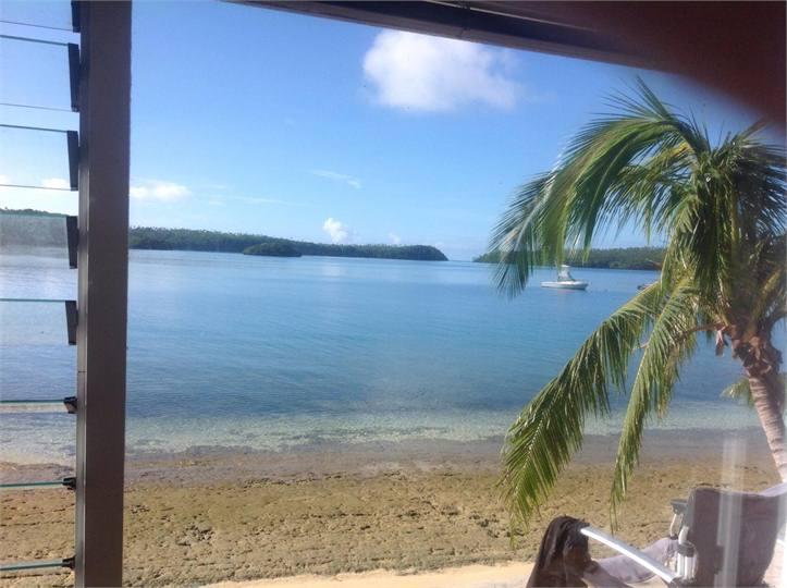 Gorgeous view from our lounge window - out to lagoon and entrance-way