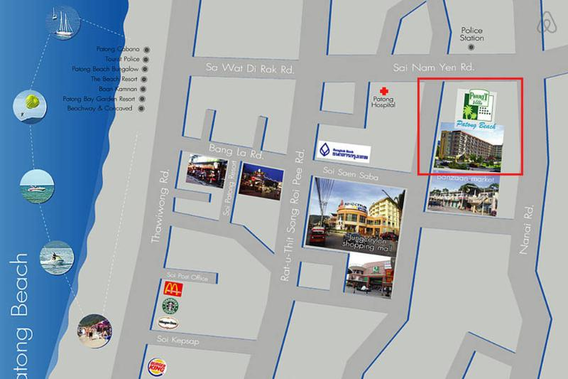 The location for the residence in Patong