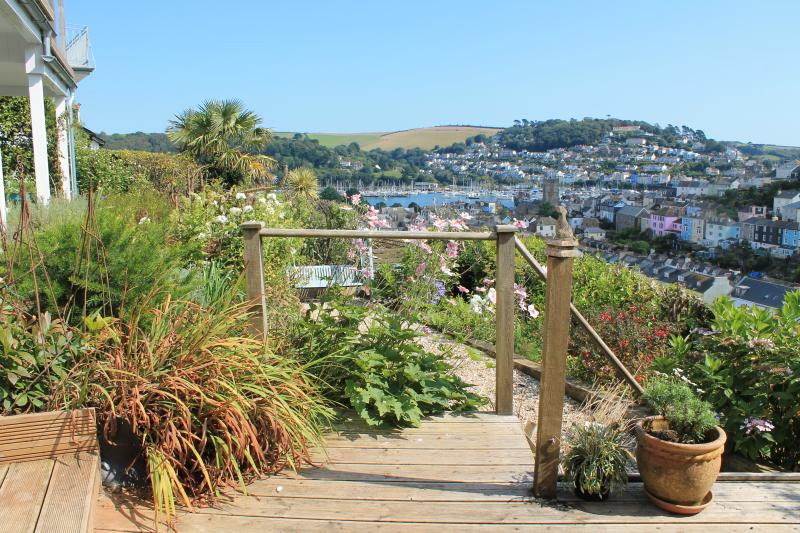 View across the garden to the Dart
