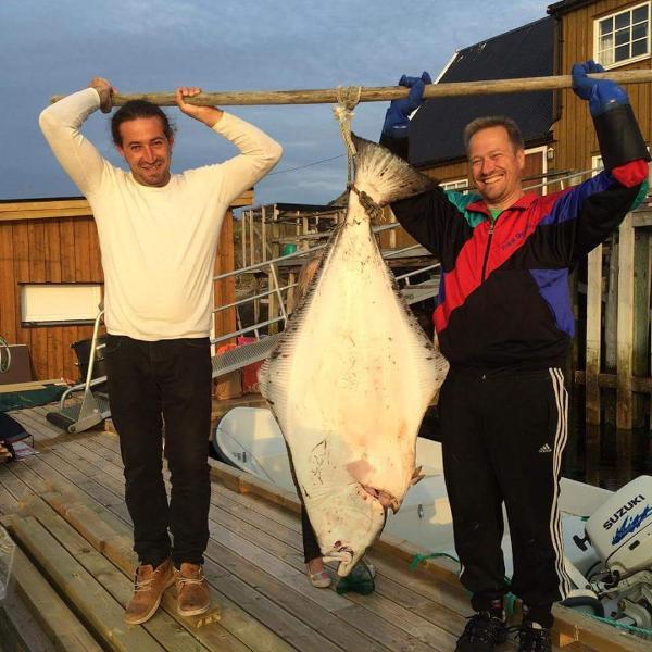 Halibut 38 kg caught outside Skrova.