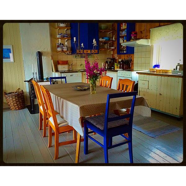 Kitchen in apartment Havørna