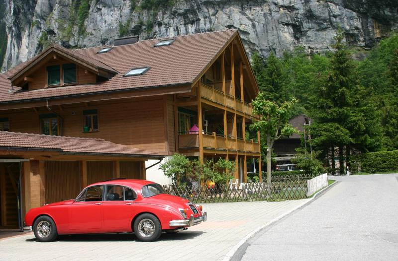 Chalet in Summer. Close to Staubbach Waterfall and great hiking.
