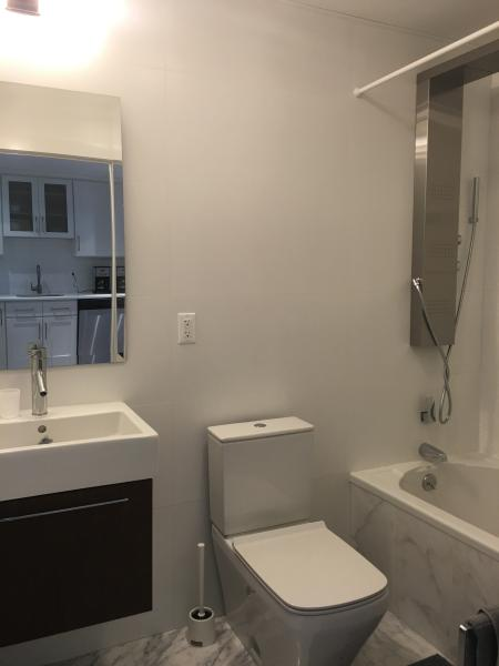 Full marble bathroom with Duravit sink