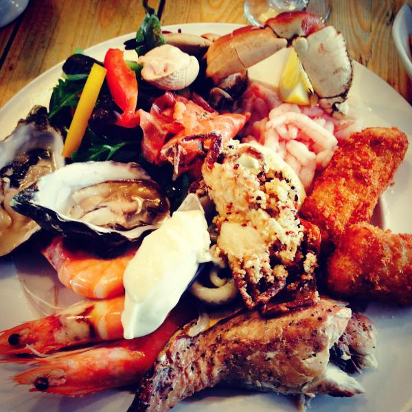Seafood at The Old Boathouse Amble